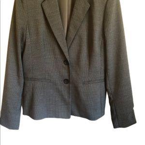 Banana Republic grey pin striped fitted blazer 12